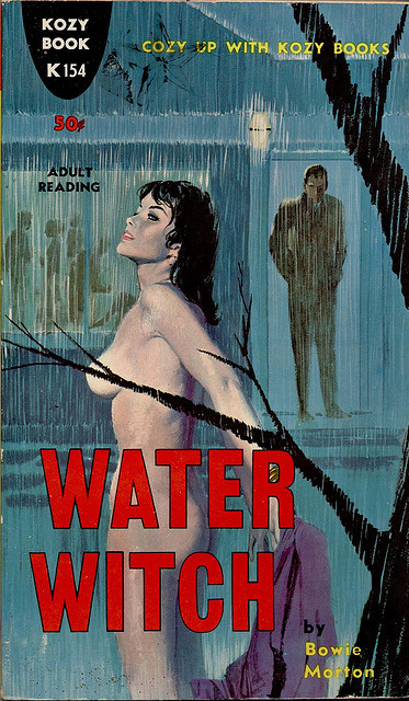 Kozy K 154 by uk vintage on Flickr. Water Witch by Bowie(!) Morton. Nothing is better than a well-placed tree branch.