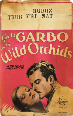 retrogoddess:  Greta Garbo, Wild Orchids