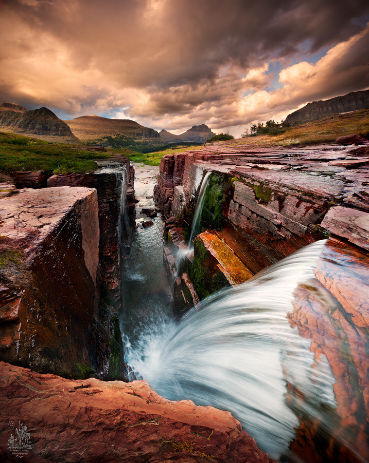 primalpalette:  Over the Edge By Robert Beideman. Glacier National Park.