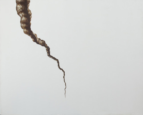 "Gina Ruggeri. Crack, 2010. Acrylic on Mylar cut-out, 85"" x 42"""