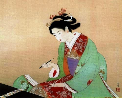 artemisdreaming:  Woman Writing Uemura Shōen