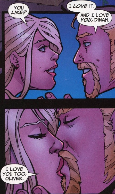 comicbookkissyface:  This wasn't really Ollie, but I can pretend. Green Arrow/Black Canary Wedding Special