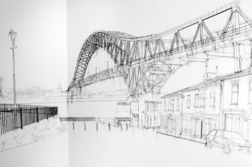 Debbie Smyth Jubilee Bridge, 2009  Image made of thread.  More info and photos here.via>forwhenifeellikesharing
