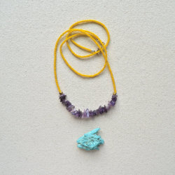 (via Rock the Rock Necklace Amethyst Dirty Yellow)