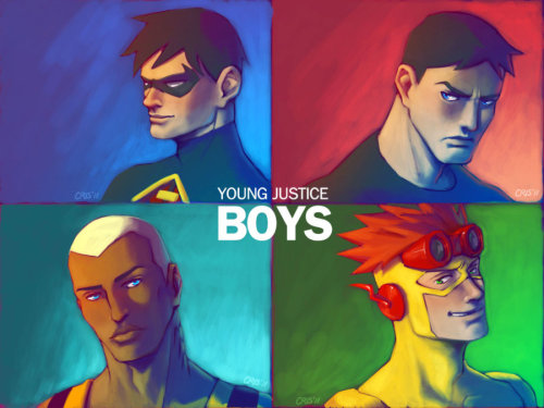 Young Justice BOYS by *cris-art