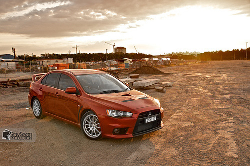 aitakeru:  Evo X Sunset (by FiloFaith)