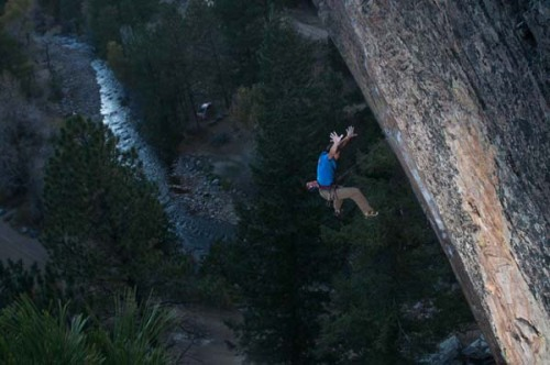 redpointcowboy:  Andy Mann on (?) The Web (5.13c), Eldorado Canyon, Colorado.