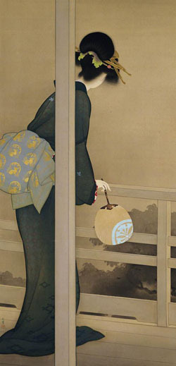 artemisdreaming:  Waiting for the Moon, 1926, Courtesy of the Kyoto Municipal Museum of Art Uemura Shōen