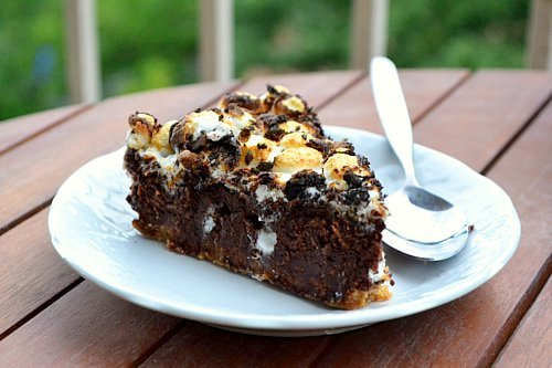 piece of s'mores pie.