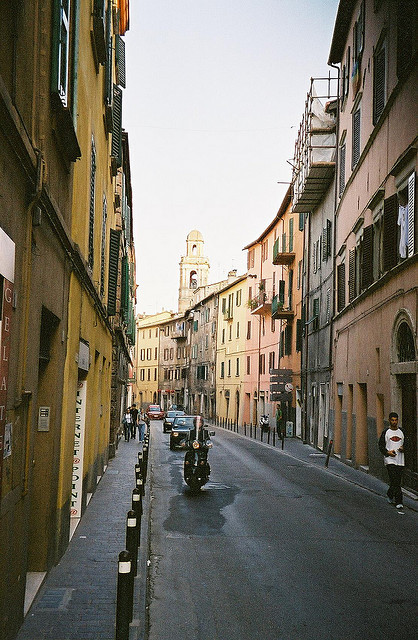| ♕ |  Street in Perusia, Umbria  | by © ChrisYunker | via ysvoice