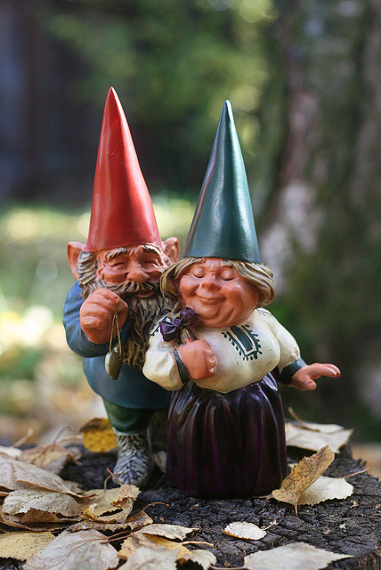 Gnomes in love on Flickr.