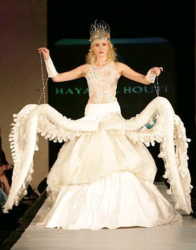 thingsmissfrizzlewouldwear:  Octopus Wedding dress