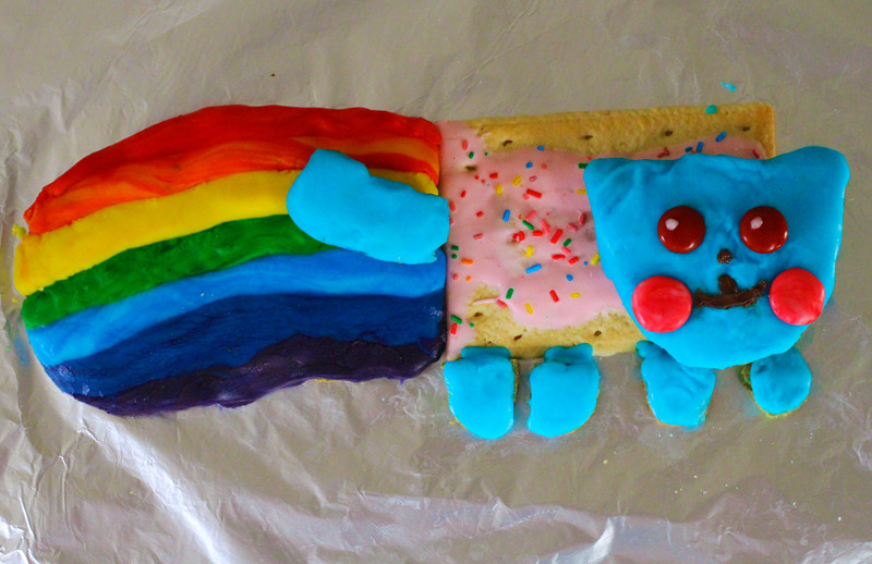nyan cat cookies
