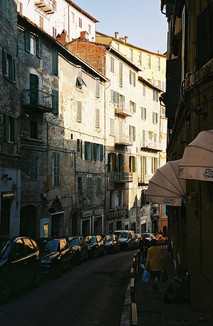 | ♕ |  Old alley in Perugia  | by © ChrisYunker | via ysvoice