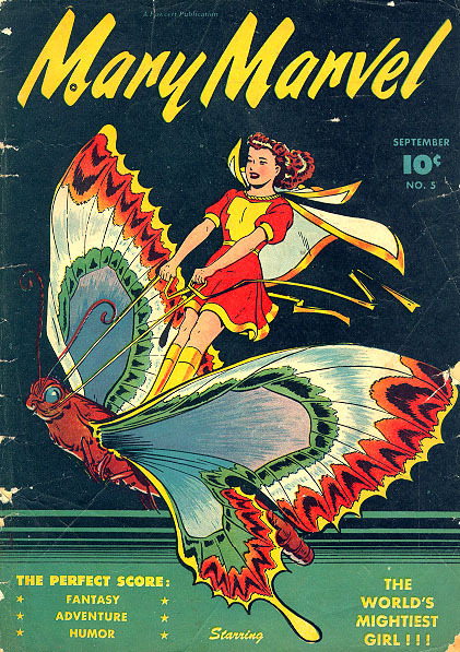 malpertuis:  One of the top reasons I love Mary Marvel - she has brown hair. Not blond, red or black. I was really sad Cassie Sandsmark wore a brown wig. Nobody expects extraordinary things from mousy brown haired girls.