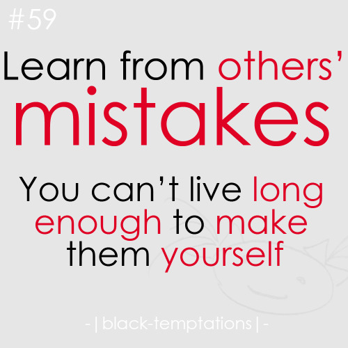 learning from a mistake