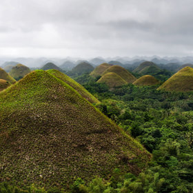 Chocolate Hills, Bohol by marcellian