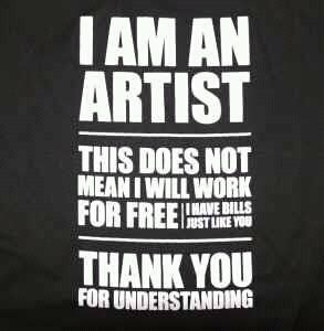 "keeping it real: ""I am an artist…"""