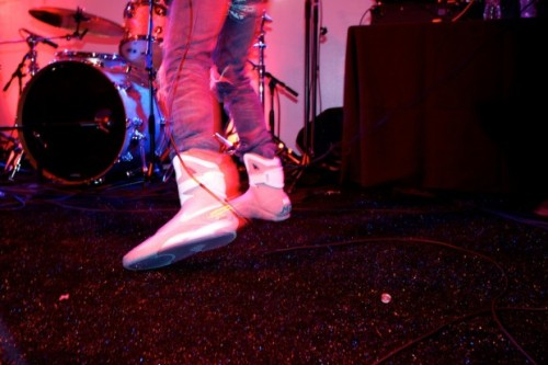 hypebeast:  Kid Cudi / 2011 Nike MAG  Kid Cudi you're insane.