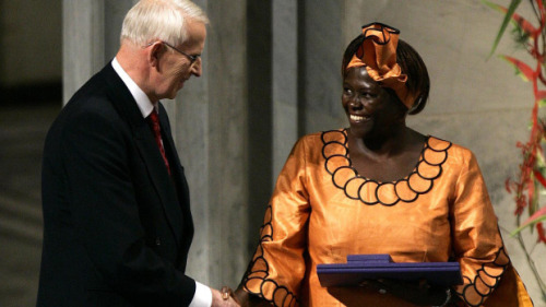 "The World Mourns the Passing of Nobel Peace Prize Laureate Wangari Maathai  NAIROBI, Kenya — Wangari Maathai, the Kenyan environmentalist who began a movement to reforest her country by paying poor women a few shillings to plant trees and who went on to become the first African woman to win a Nobel Peace Prize, died here on Sunday. She was 71. The cause was cancer, said her organization, the Green Belt Movement. Kenyan news outlets said that she had been treated for ovarian cancer in the past year and that she had been in a hospital for at least a week before she died. ""It is with great sadness that the Green Belt Movement announces the passing of its founder and chair, Prof Wangari Muta Maathai, after a long illness bravely borne,"" the organisation said in a statement on its website. ""Prof Maathai passed away on the 26th of September 2011 in Nairobi. Her family and loved ones were with her at the time,"" the statement, signed by the movement's Executive Director Karanja Njoroge, added. Dr. Maathai, one of the most widely respected women on the continent, played many roles — environmentalist, feminist, politician, professor, rabble-rouser, human rights advocate and head of the Green Belt Movement, which she founded in 1977. Its mission was to plant trees across Kenya to fight erosion and to create firewood for fuel and jobs for women. Dr. Maathai was as comfortable in the gritty streets of Nairobi's slums or the muddy hillsides of central Kenya as she was hobnobbing with heads of state. She won the Peace Prize in 2004 for what the Nobel committee called ""her contribution to sustainable development, democracy and peace."" It was a moment of immense pride in Kenya and across Africa. Her Green Belt Movement has planted more than 30 million trees in Africa and has helped nearly 900,000 women, according to the United Nations, while inspiring similar efforts in other African countries. Continue reading here…"