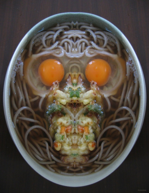 Continuing on the theme of Halloween food skulls