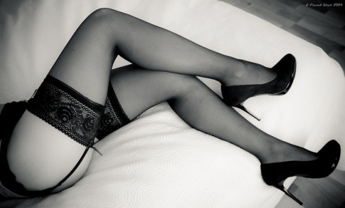 Lace, silk and heels by thxbb12 on Flickr.