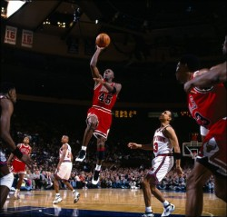 Jordans double-nickel against the Knicks at MGS