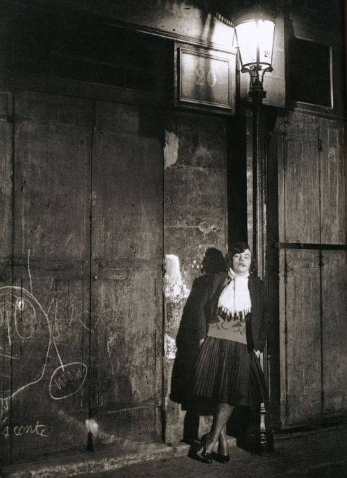 liquidnight:Brassaï  Evening, rue de Lappe Paris, 1932 From The Secret Paris of the 30's