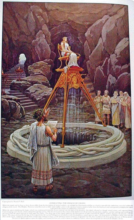 CONSULTING THE ORACLE OF DELPHI — MASONIC HERMETIC QABBALISTIC & ROSICRUCIAN SYMBOLICAL PHILOSOPHY by Manly P. Hall