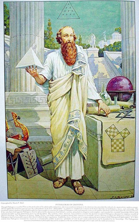 PYTHAGORAS OF CROTONA — MASONIC HERMETIC QABBALISTIC & ROSICRUCIAN SYMBOLICAL PHILOSOPHY by Manly P. Hall