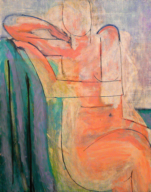 23rd-block:  Henri Matisse, Pink Nude Seated. Oil on canvas
