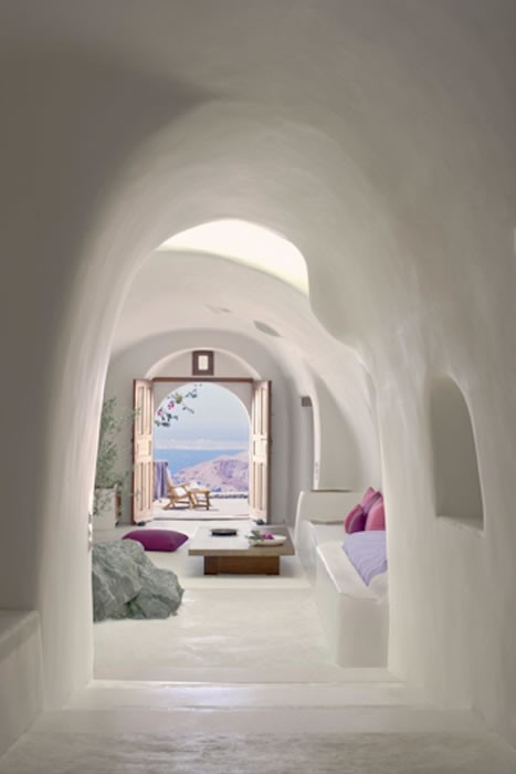 The Perivolas on Santorini.