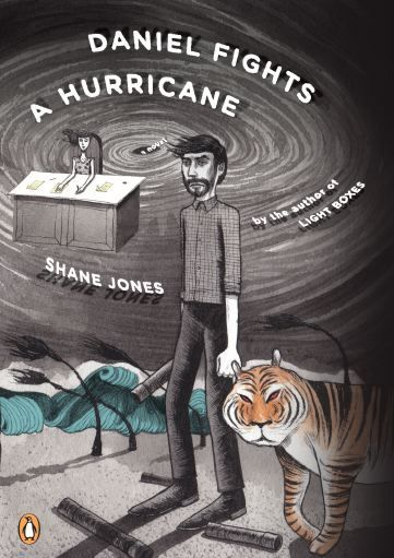 ivomiticecubessowhat:  Daniel Fights A Hurricane (Penguin, Summer 2012). 220 page paperback. Full spread showing characters IAMSO and The Most Beautiful Man In The World With the Worst Teeth In The World by artist Kenny G. at his blog.  Commentary from one of the ladies running this tumblr:  We got galleys in yesterday and I more or less immediately started reading it on the train, got home, took a shower, and then found boyfriend reading it. Shane, we are now in a fight over who gets to finish this first. Look what you've done!