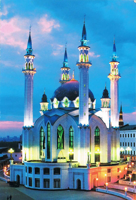 Qolsharif Mosque in Tatarstan Kazan, Russia. manyeeposts:  Russia- Hong KongRU-492052beautiful view card from Russiaanyone would be so kind to tell me something about this building?