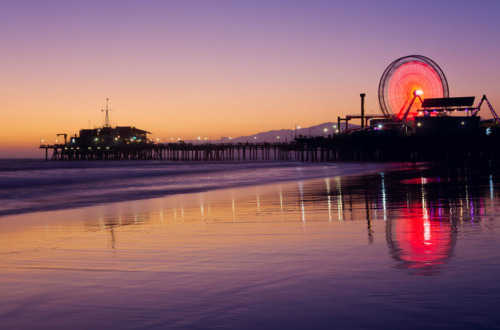 Santa Monica Pier Sunset:   Canon 5DMKII + 24-70 f/2.8L, 3.2s at f/22, ISO 100. Many beginner photographers ask me how to take great night shots, so I thought I would share some simple tips for taking long exposures. Here is the link to the tutorial on my Google+: plus.google.com/mostlylisa