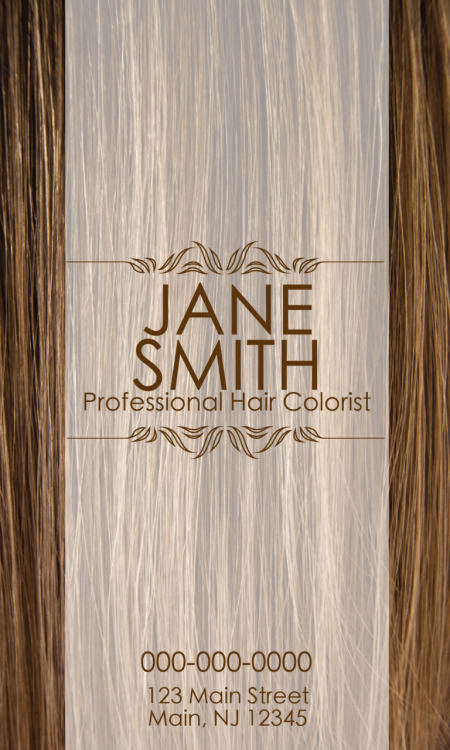 Business Card TemplatePurpose: Hair Salon