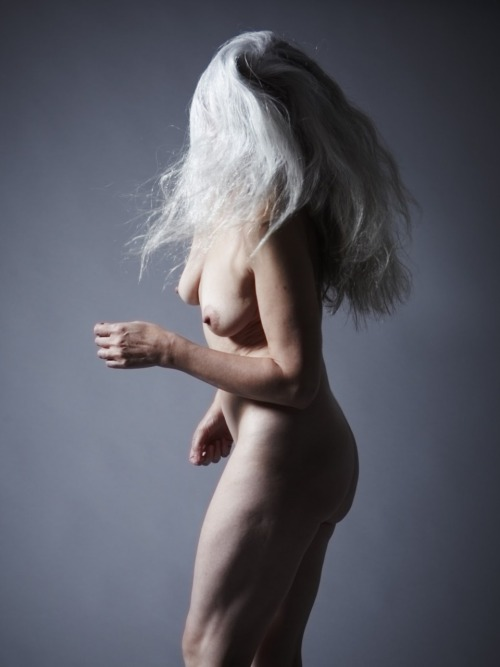 nude gray. haired
