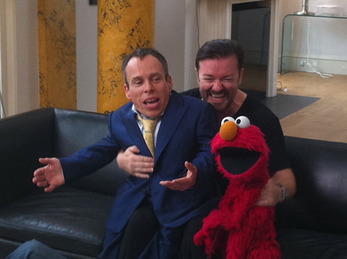 Ricky Gervais on Warwick Davis and Life's Too Short  Warwick Davis has appeared in everything from Return Of The Jedi to Harry Potter, and he's about to take centre stage in Life's Too Short, the latest sitcom from Ricky Gervais and Stephen Merchant.      We rocked up on set to get the lowdown on what is potentially the new The Office/Extras, and found time to chat with Gervais about his leading man. [FOR MORE, CLICK ON RICKY, ELMO AND WARWICK]