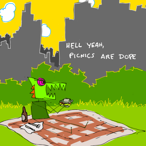 explodingdog:  Picnics are dope.