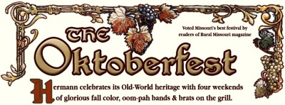 Oktoberfest is held the first four weekends of Oktober and has become a fall tradition for many. Every weekend there are special activities held amid the spectacular autumn colours in this little German home-away-from-home.      Oktoberfest and Hermann feature unique shops, tastings and tours at the wineries and breweries, and eateries along the Missouri River, which you could pretend is the Rhine.      You can check out a complete schedule of weekends events here.