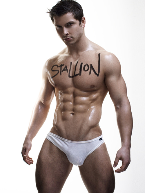HunkDude: ♂   Stallion  hunkopedia:  Mike John  Just perfect! The face, the body, the dick…