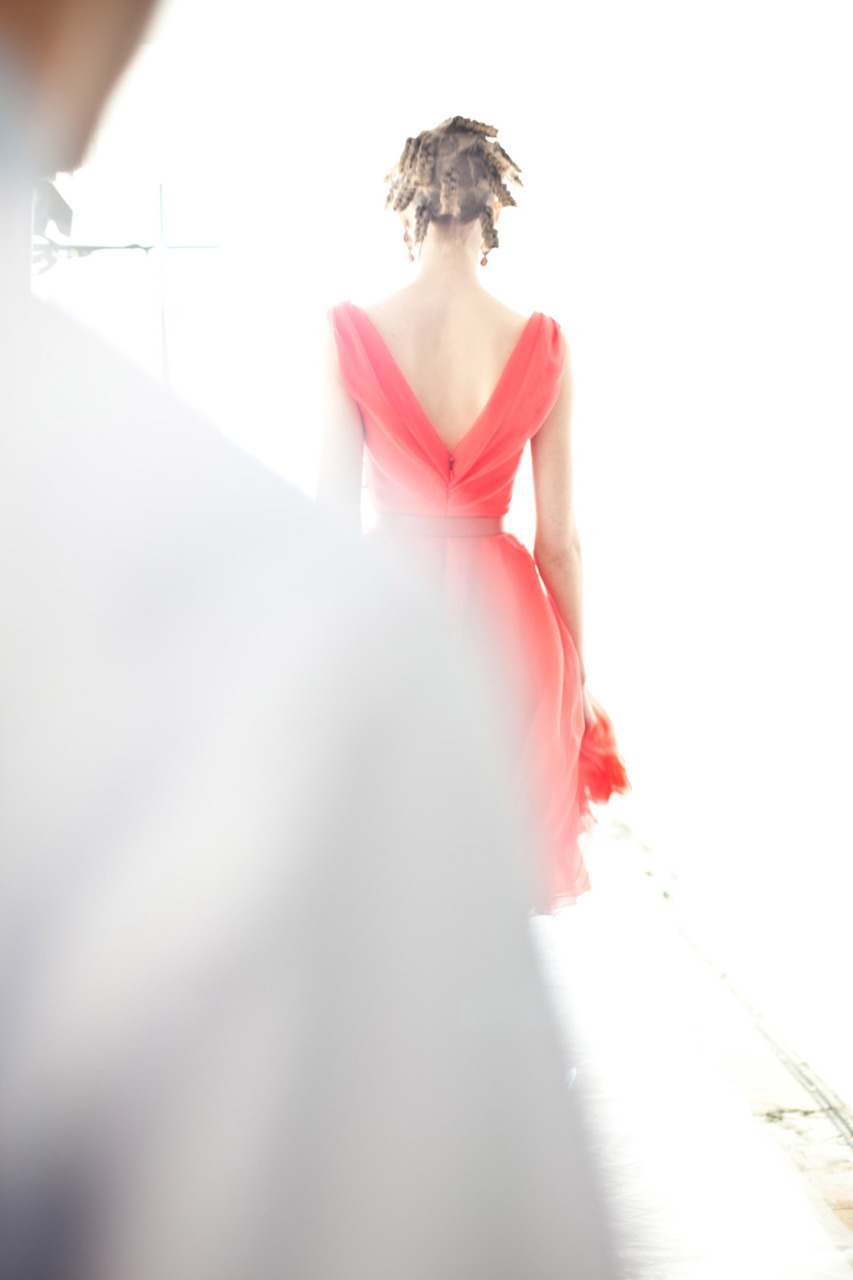 dreamy. and the back of the dress is fantastic. oh and that is what our runway hair looked like in work. photo by william yan.