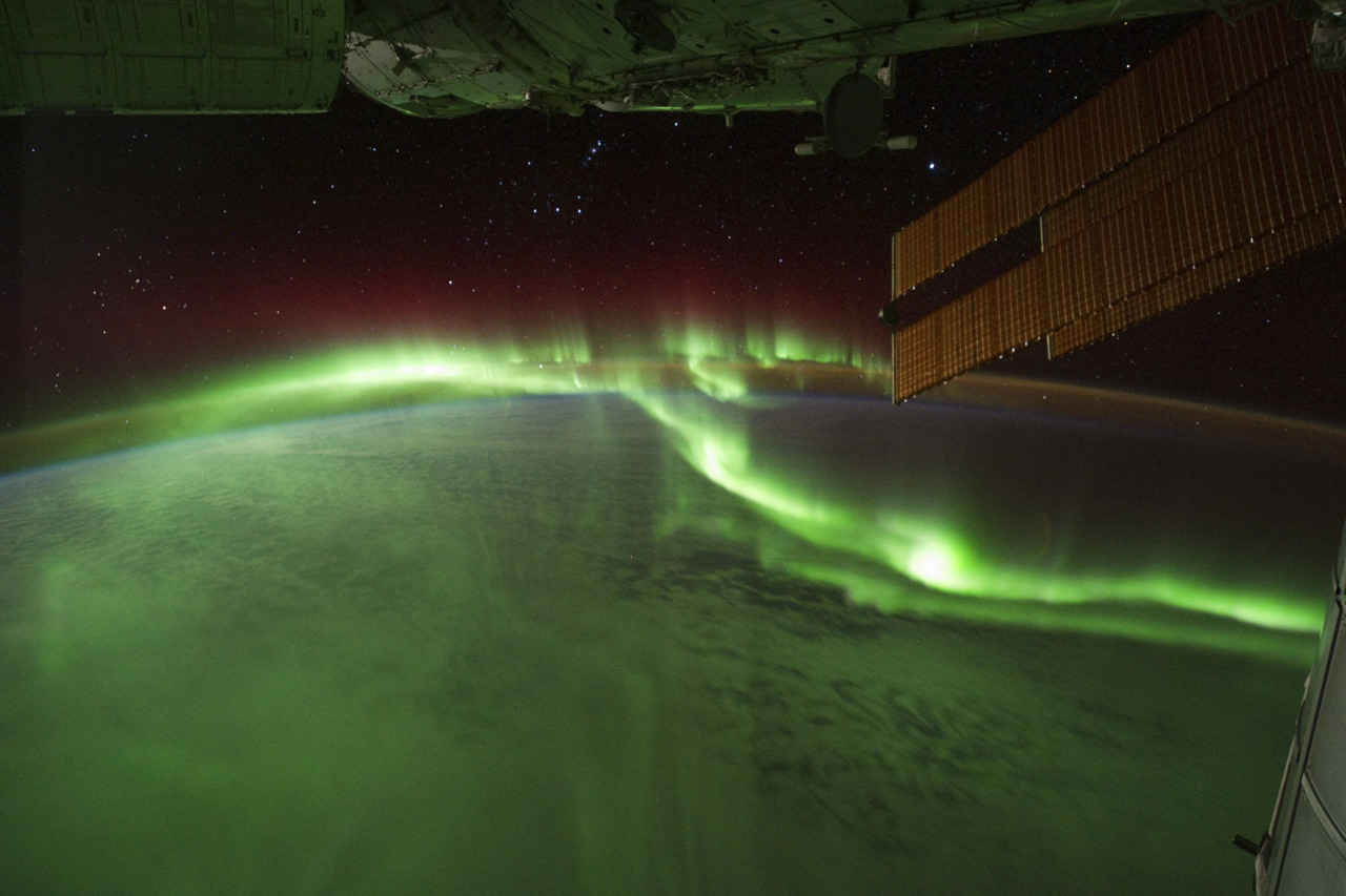 Aurora Borealis, seen from the ISS.