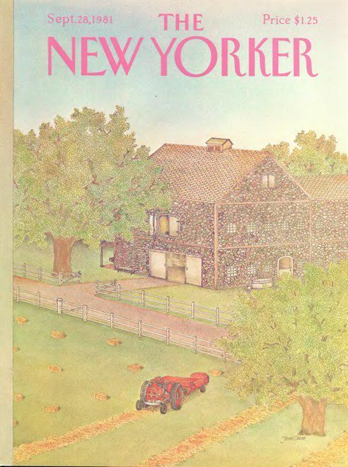 newyorker:  A New Yorker cover from this week, thirty years ago.  I wouldn't mind seeing a few magazines in the store today that looked a little more like this. (Mainly, I miss the colors. And the small type.)