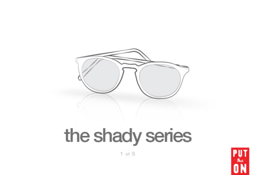 The Shady Series, Part I: An IntroductionAlthough  many people think of sunglasses only as a summer accessory, they're  actually important year-round. You should wear them in the fall  whenever it's clear and sunny, and in the winter when glare is  reflected off of the snow. In both cases, proper sunglasses will provide  important protection for your eyes.Thus, a good friend of mine, Agyesh Madan, and I thought we'd publish a special five-part series on sunglasses. Together, we'll discuss how to determine quality and what models you  should consider. We'll also cover how you can choose an appropriate pair  of frames, as well as how to maintain your  glasses once you get them. Like The Necktie Series,  I hope these posts will be a resource for those who want to know  how things are constructed, how to make the best purchases, and how to  take care of their items. Sunglasses are often neglected by menswear  writers, and we hope to fill that void. Come back tomorrow for part two  of this series, where we'll talk about how to determine quality in a  pair of sunglasses. It should be a great series! * Original artwork above by Agyesh Madan.