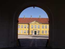 A royal residence in Roskile, near the cathedral where Denmark's monarchs are buried.