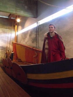At the viking musem in Roskilde, Denmark. AHHHH I love dress-up!
