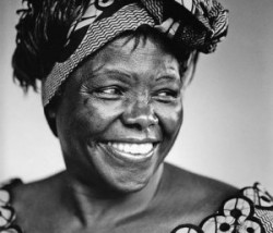 Kenyan Nobel Peace Prize Laureate, Wangari Maathai, passes away at age 71. She leaves behind a remarkable legacy as a champion of environmental protection, women's rights, and political activism. (via okayafrica)