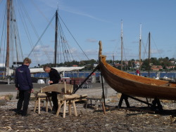 Building a viking ship in Roskilde!