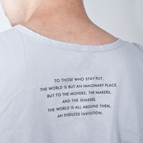 The back of a new Invisible Children tee.